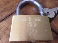 Love Locks- Engraved Pitt Meadows, V3Y 2C3