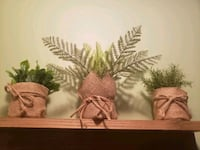 set of 3 fake plants for sale Châteauguay, J6J 5Y5