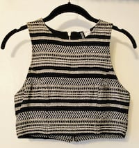 Black/white patterned crop top New York, 10029
