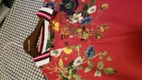 red and green floral textile Mount Vernon