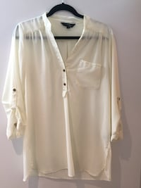 Cream 3/4 length blouse  Toronto, M6J 0E5