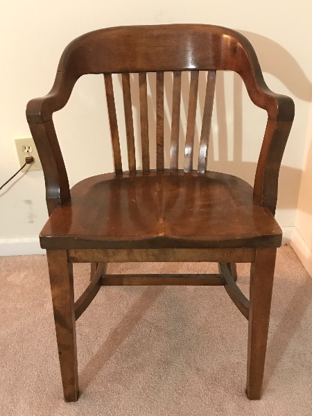 Vintage Library Chairs Qty 3