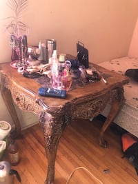 Brown wooden marble table  moving sale Toronto