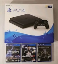 New ps4 1tb slim with 3 new great games 11 mi