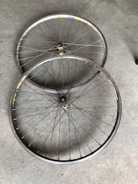 two black bicycle rims with tires Spruce Grove, T7X 0B5
