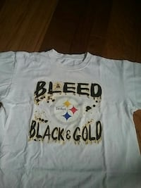 white Bleed Steelers Black and Gold print shirt
