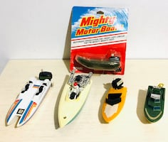 Vintage 1970s Mighty Motor Boats By: Tomy and others