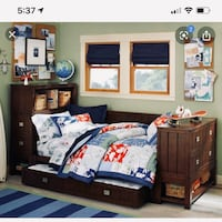 POTTERY BARN KIDS RILEY PLATFORM BED AND DESK UPDATE: the bed include a sleep number mattress. Mc Lean, 22101