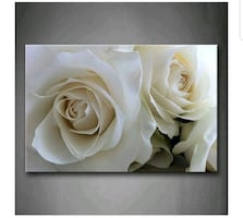 Huge Roses Flower Wall Art Painting Pictures Print On Canvas