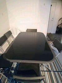 Glassbord for outdoor with 6 chairs  Randaberg, 4072