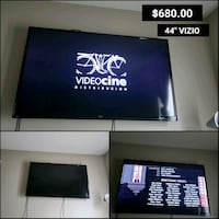 black flat screen TV with remote Lawrenceville, 30044