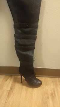 Womans leather boots designer L.A.M.B