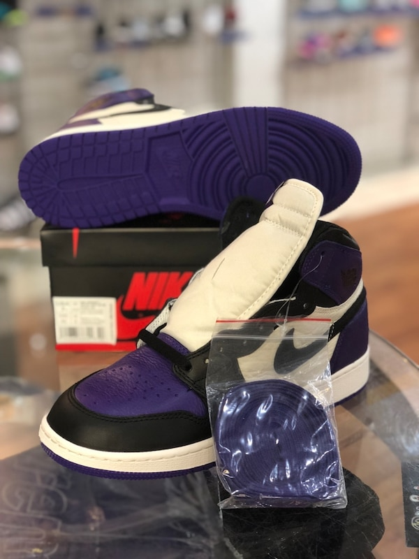 Brand new Court purple 1s size 7