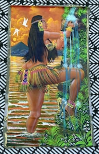 Unstretched Native American painting