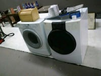 white and black front load washer and dryer set Indianapolis, 46218