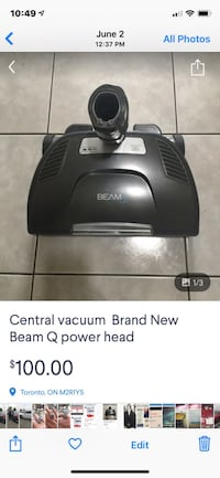 Beam Power head Alliance  retail price $300 Brand New $100