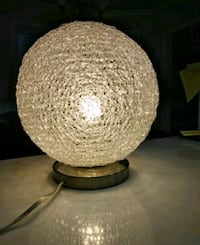 "Lamp, sparkly, about 10"" high 540 km"