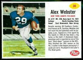 1962 Post Football Cards