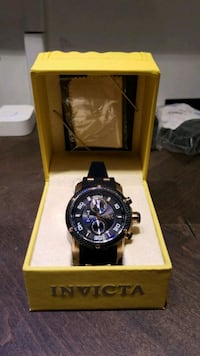 round black chronograph watch with black strap Buford, 30519