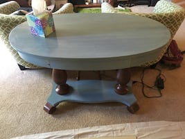 Hand painted vintage table