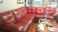 tufted red leather sectional sofa Douglasville, 30135