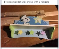 Wooden wall shelve and snoopy hamper Milwaukee