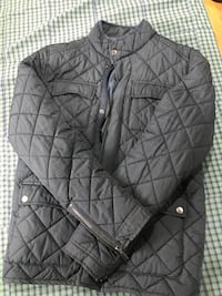 black zip-up bubble jacket New York, 10314