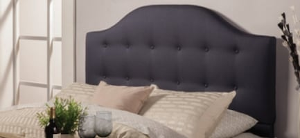 King Navy Blue Tufted Headboard