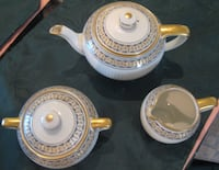 French Limoges, Art Deco 3 pce tea set GDA 1941 Vintage 538 km