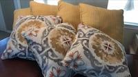 BRAND NEW IN BOX 7 HIGH QUALITY DESIGNER REAL FEATHER DOWN 20 x 20 PILLOWS - PAID $500 Broken Arrow, 74012