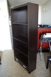 Wooden Bookshelf with drawer - $80 Vancouver