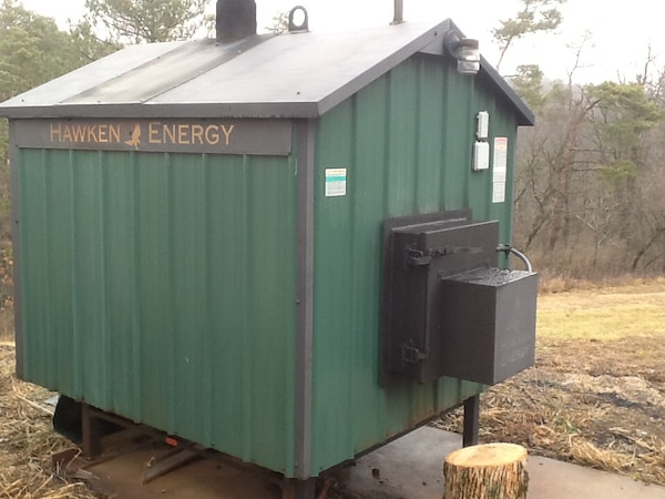 used outdoor wood boiler hawken energy he 2100 can heat up to