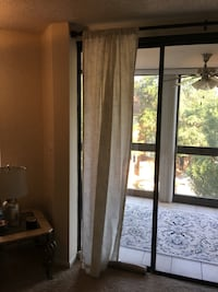 Cream colored linen drapes (steel rod included) Arlington, 22201