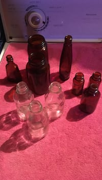 clear and brown glass bottle lot 2015 mi