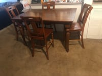 rectangular brown wooden table with four chairs dining set Orlando, 32835