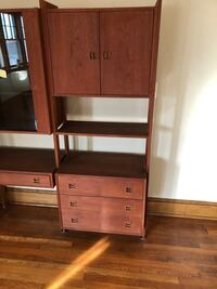Large shelf rack with display case