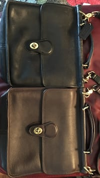 black leather 2-way bag Linthicum Heights, 21090