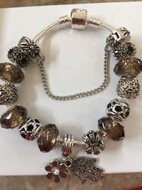 Bracelet loaded with charms and a Safety Chain  Aldie, 20105