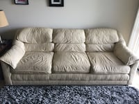 Offwhite leather 3-seat sofa Manassas, 20109