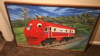 Hand Painted   Chuggington framed pictuter by local artist Severna Park, 21146
