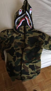 black and brown camouflage zip-up hoodie Innisfil, L9S