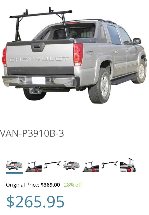 Ladder rack for Chevy Avalanche. Sells for $265 7e0ddb46-1232-46bc-9de3-aa1b3e96086f