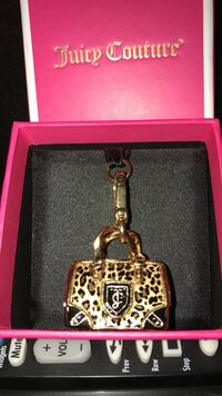 Pretty!! Gold & black leopard print genuine juicy couture bag charm Gainesville, 20155