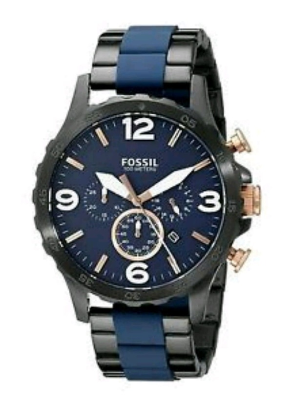 FOSSIL BLUE NATE WATCH 100 OBO 2