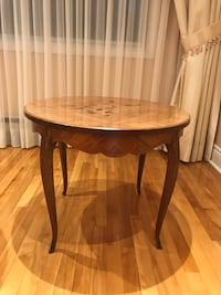 Round brown rosewood side table Montréal, H4M 2J3