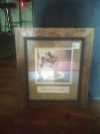 brown wooden framed painting of house Troy, 63379