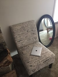 New! Beautiful French Scripture Accent Chair Noblesville, 46060