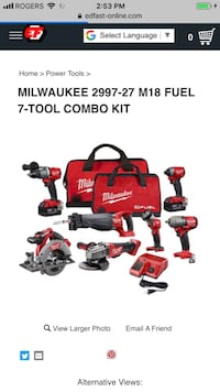 red and black Milwaukee power tools Mississauga, L4Y 1E1