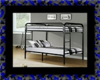 Twin bunkbed frame with 2 mattress McLean