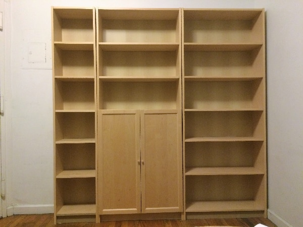 used ikea billy 3 piece bookcase with cabinet for sale in null letgo rh gb letgo com